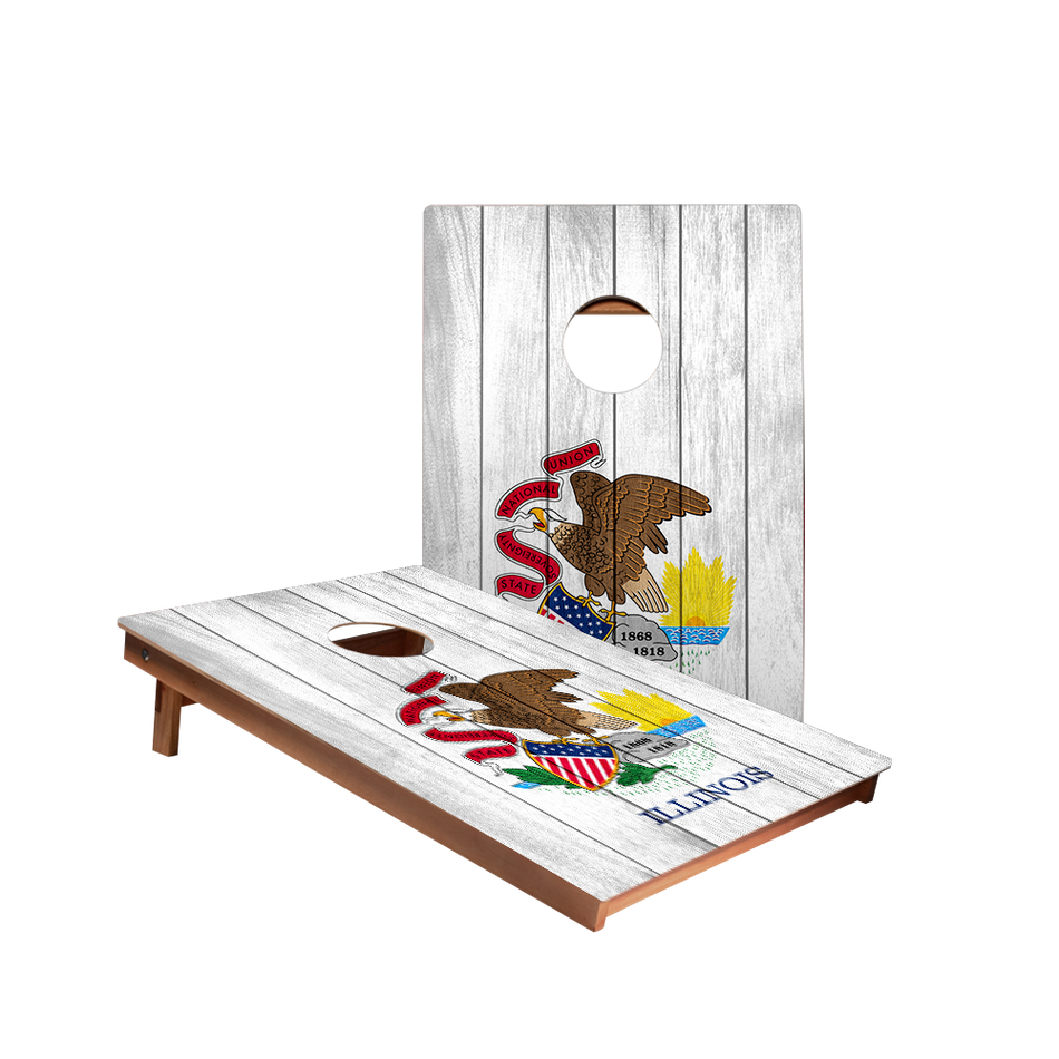Dale Illinois Flag Recreation Cornhole Boards