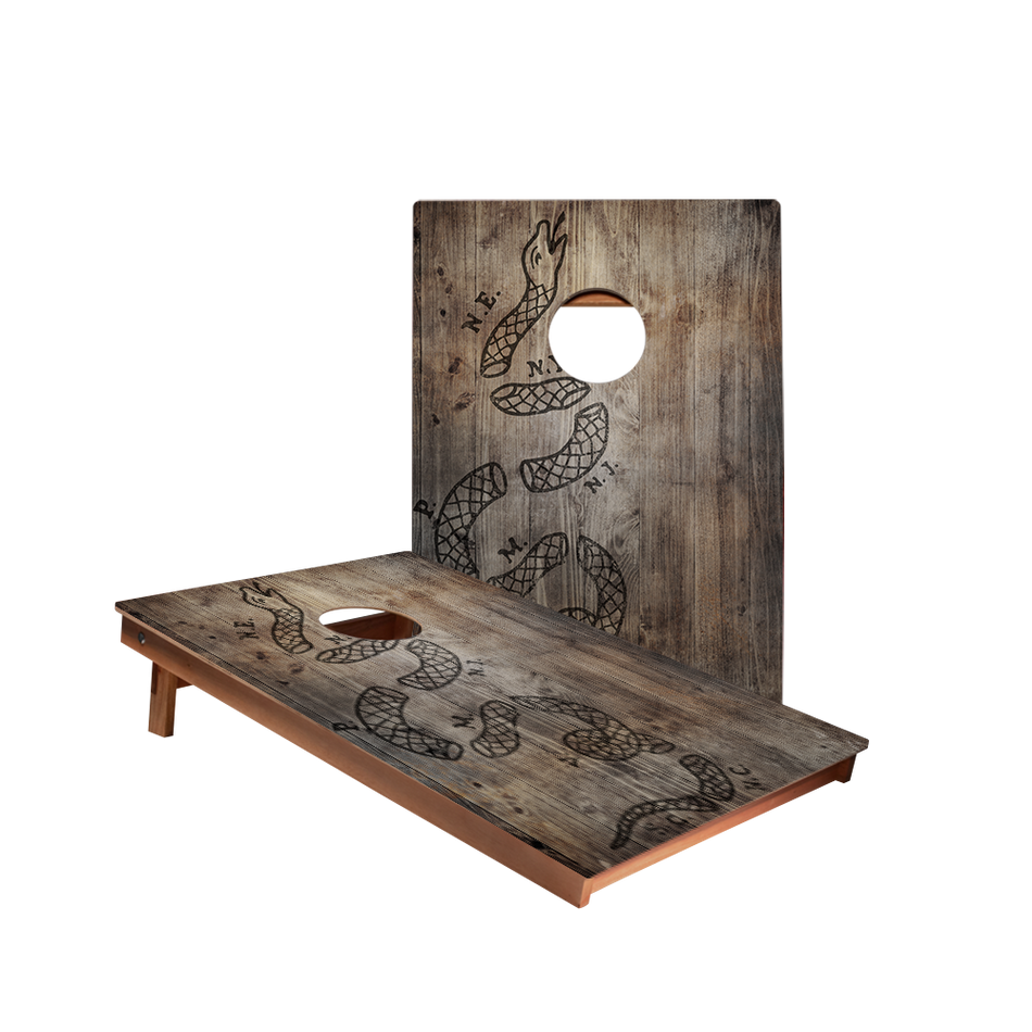 Dale Join Or Die Snake Dark Recreation Cornhole Boards