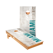 Miami Vintage Gameday Regulation Cornhole Boards Bag Toss Game Set