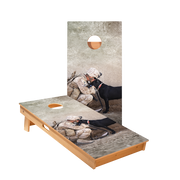 Military Dog Regulation Cornhole Boards Bag Toss Game Set
