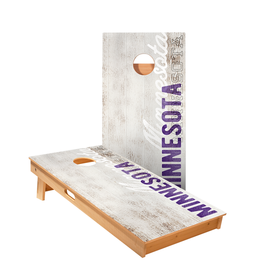 Minnesota Vintage Gameday Regulation Cornhole Boards Bag Toss Game Set