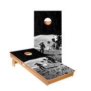 Moon Landing Regulation Cornhole Boards Bag Toss Game Set