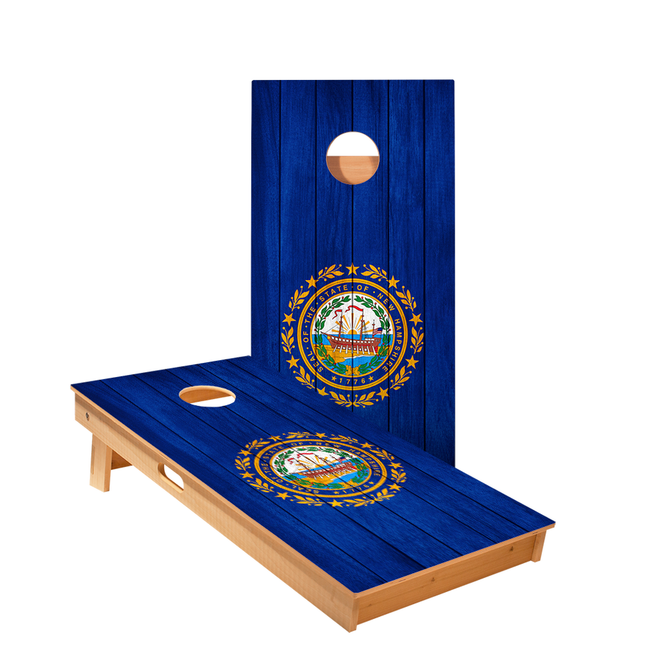 New Hampshire Flag Regulation Cornhole Boards Bag Toss Game Set