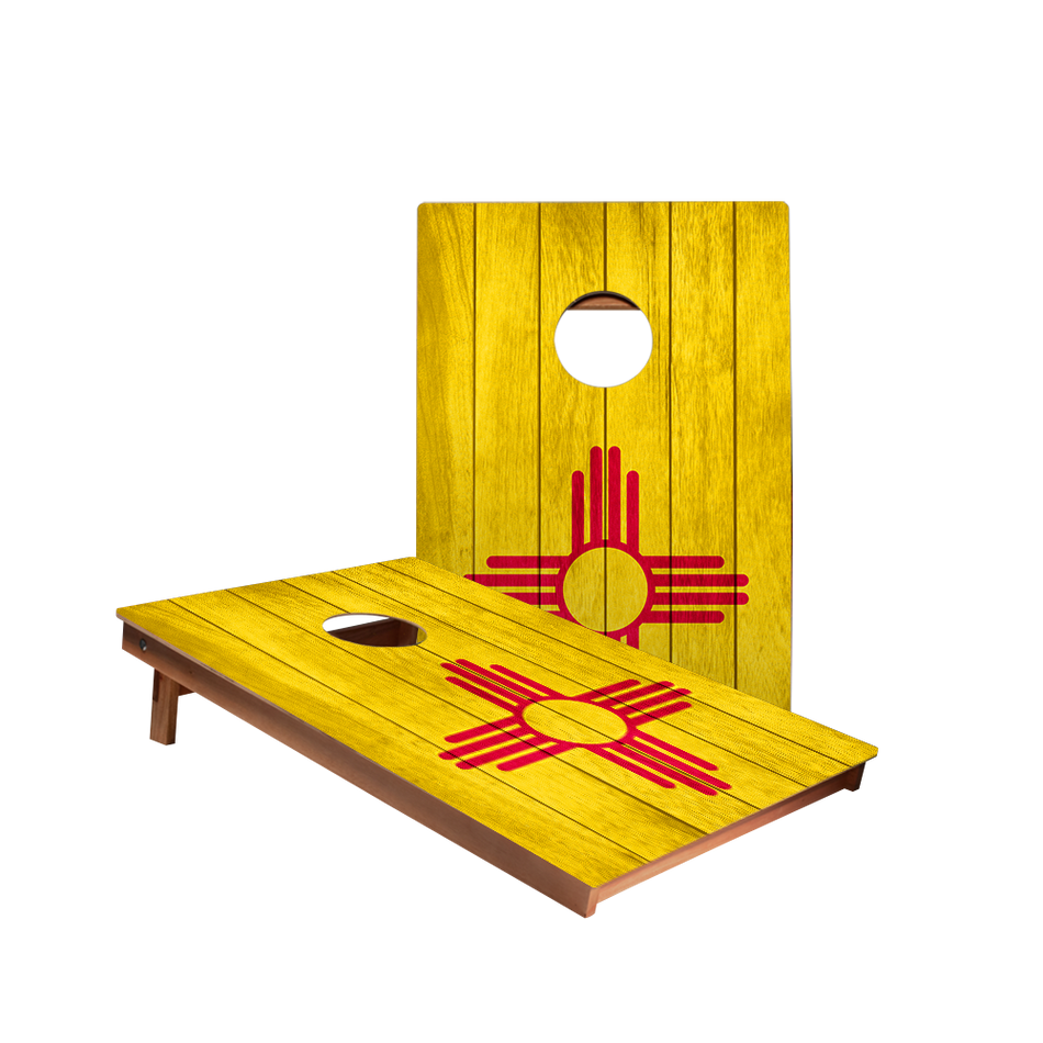 Dale New Mexico Flag Recreation Cornhole Boards