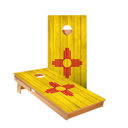 New Mexico Flag Regulation Cornhole Boards Bag Toss Game Set