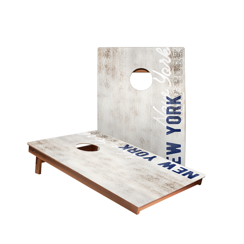 Dale New York Blue Vintage Gameday Recreation Cornhole Boards