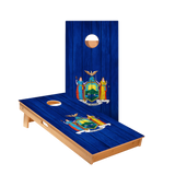 Star New York Flag Professional Cornhole Boards