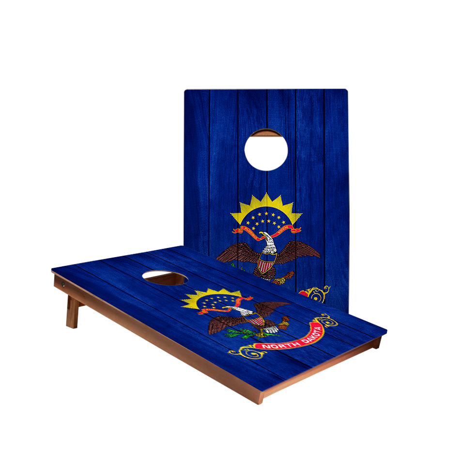 Dale North Dakota Flag Recreation Cornhole Boards