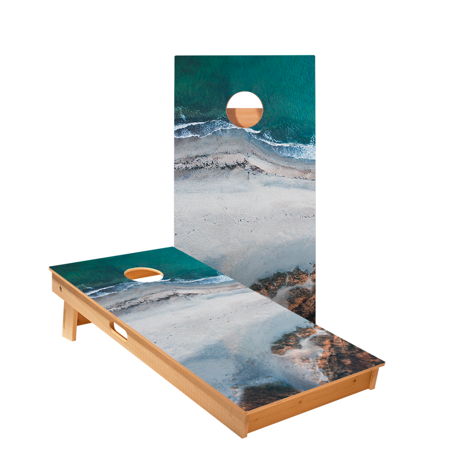 Ocean Scene Regulation Cornhole Boards Bag Toss Game Set