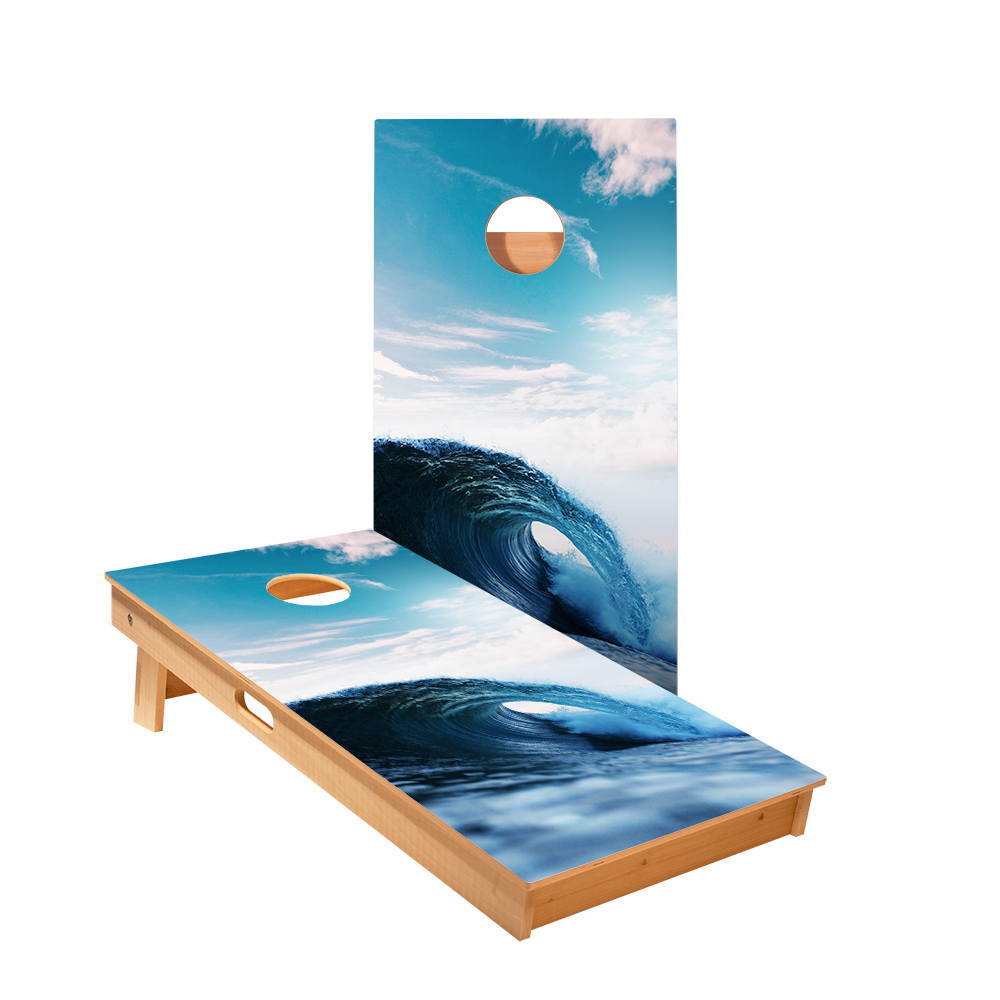 Ocean Wave Regulation Cornhole Boards Bag Toss Game Set