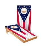 Ohio Flag Regulation Cornhole Boards Bag Toss Game Set