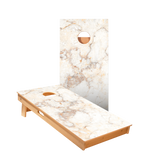 Star Orange And White Marble Professional Cornhole Boards