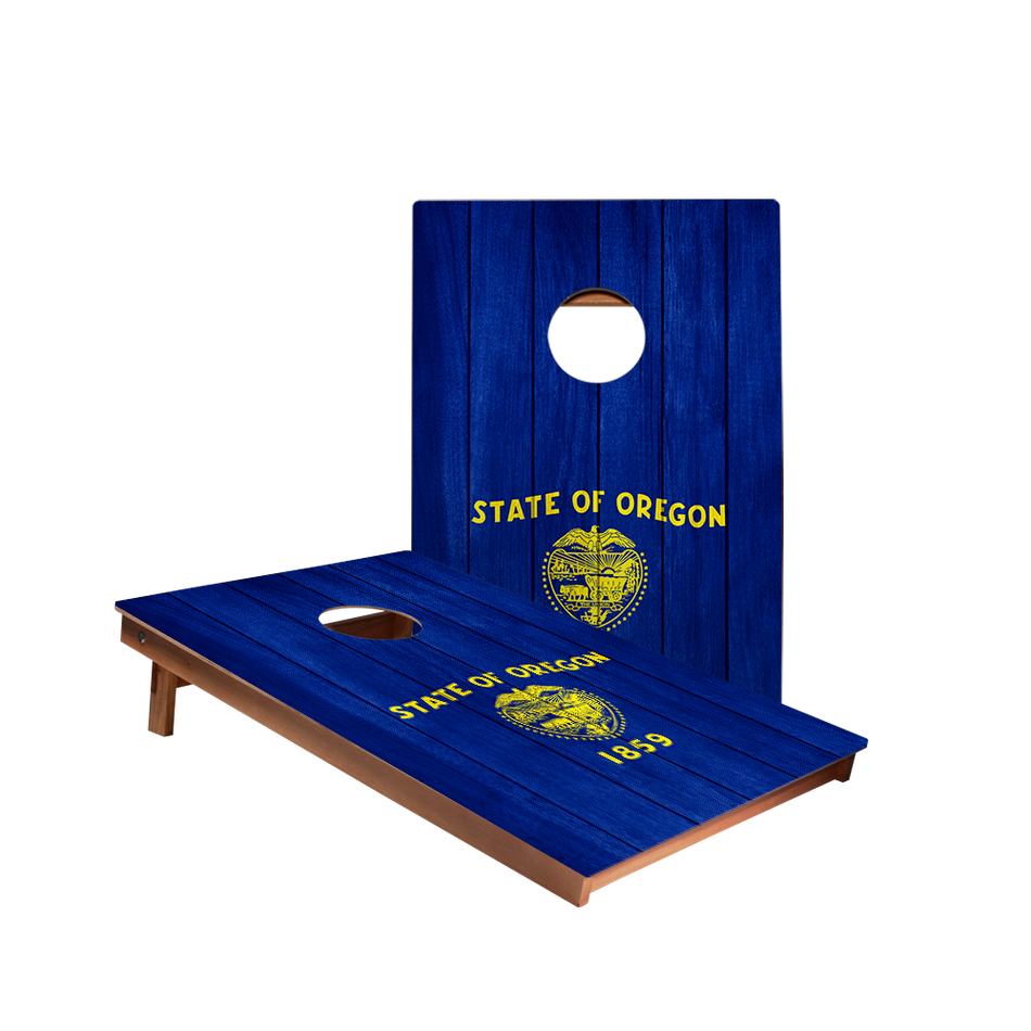 Dale Oregon Flag Recreation Cornhole Boards