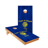 Oregon Flag Regulation Cornhole Boards Bag Toss Game Set