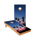 Palm Tree Sunset Regulation Cornhole Boards Bag Toss Game Set