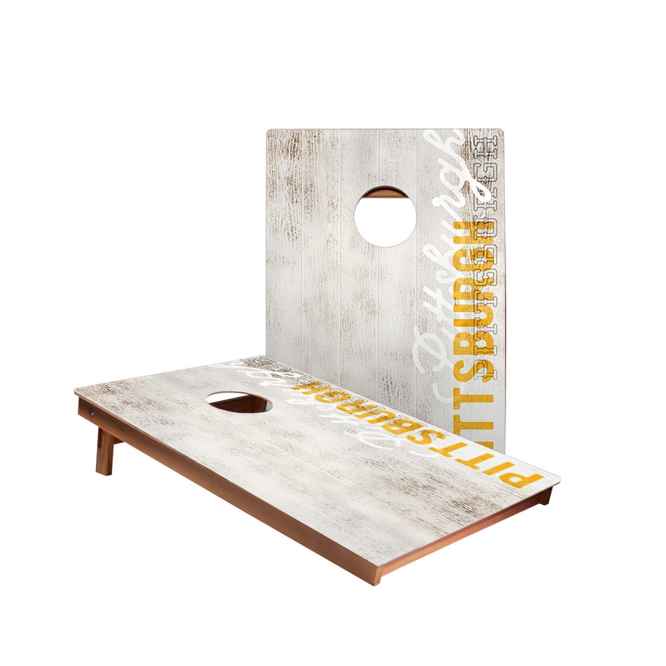 Dale Pittsburgh Vintage Gameday Recreation Cornhole Boards