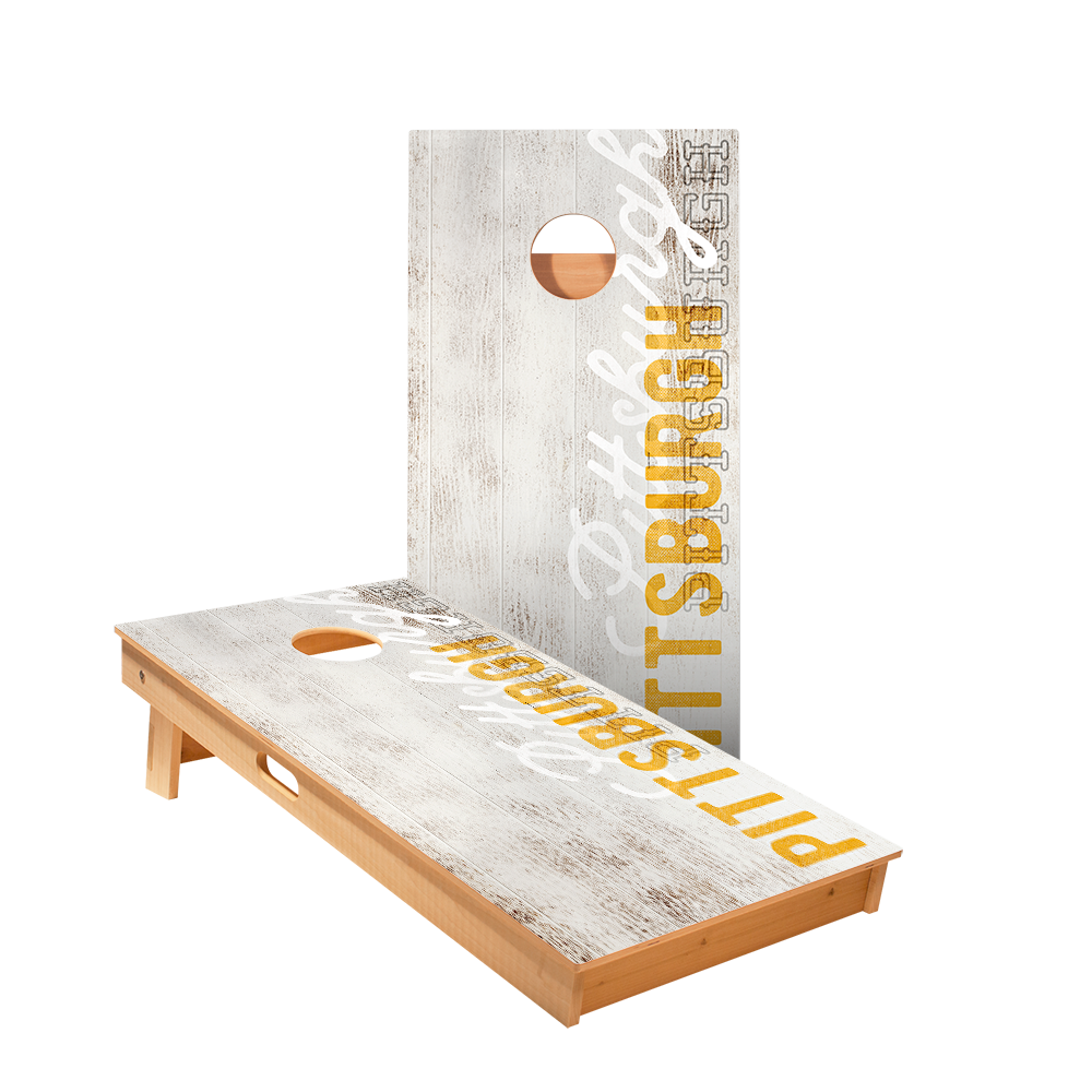 Star Pittsburgh Vintage Gameday Professional Cornhole Boards