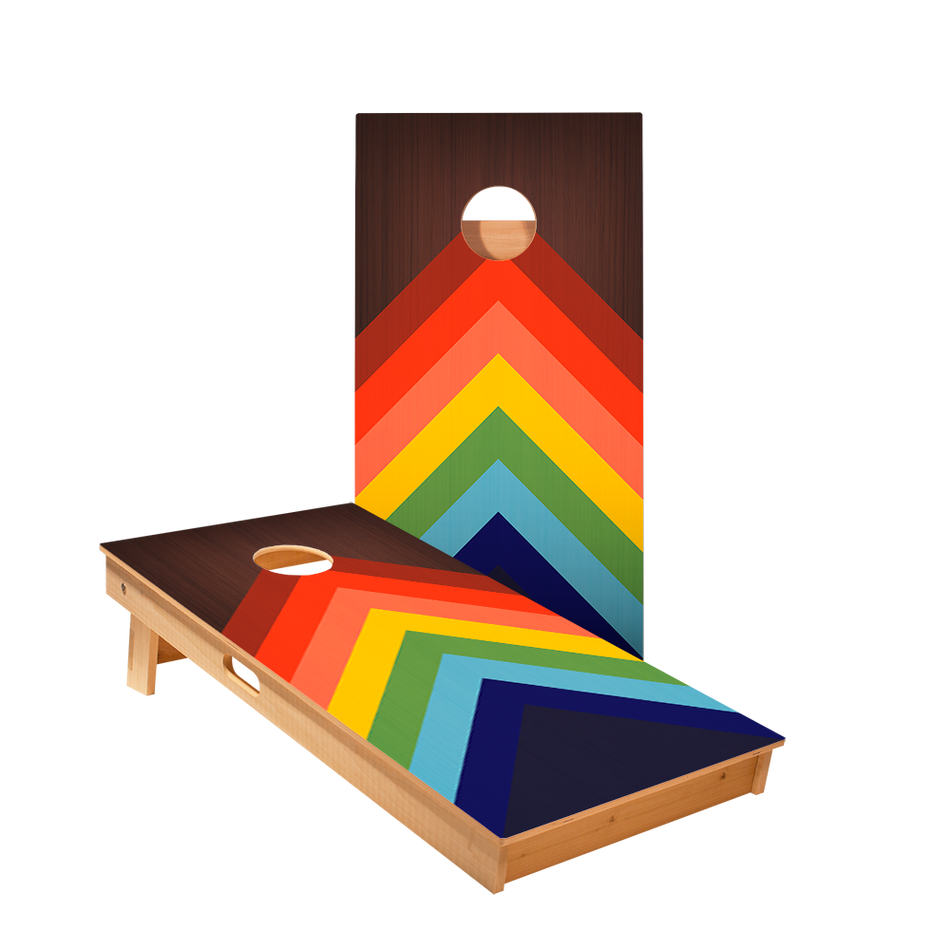 Star Rainbow-Chevrons Professional Cornhole Boards