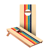 Retro Stripes Junior Cornhole Boards bag toss game set