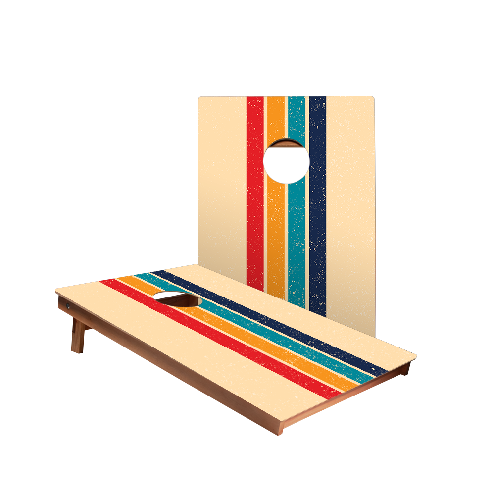 Dale Retro Stripes Recreation Cornhole Boards
