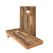 Rustic Wood Regulation Cornhole Boards Bag Toss Game Set
