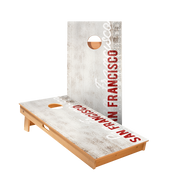 San Francisco Vintage Gameday Regulation Cornhole Boards Bag Toss Game Set