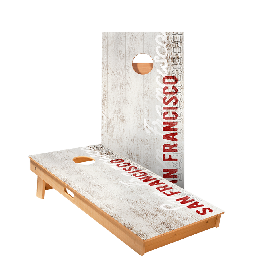 Star San Francisco Vintage Gameday Professional Cornhole Boards