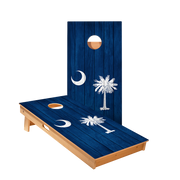South Carolina Flag Regulation Cornhole Boards Bag Toss Game Set