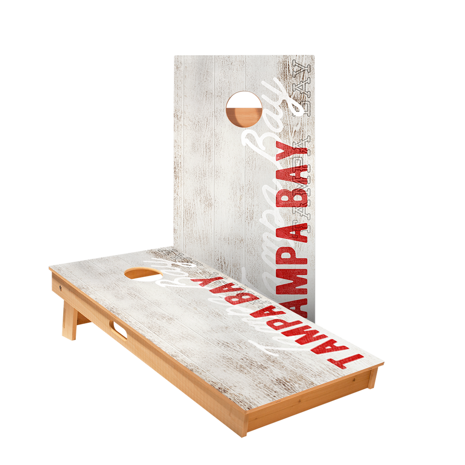 Tampa Bay Vintage Gameday Regulation Cornhole Boards Bag Toss Game Set