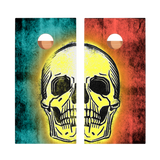 Star Teal And Red Skull Professional Cornhole Boards