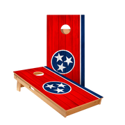 Tennessee Flag Regulation Cornhole Boards Bag Toss Game Set