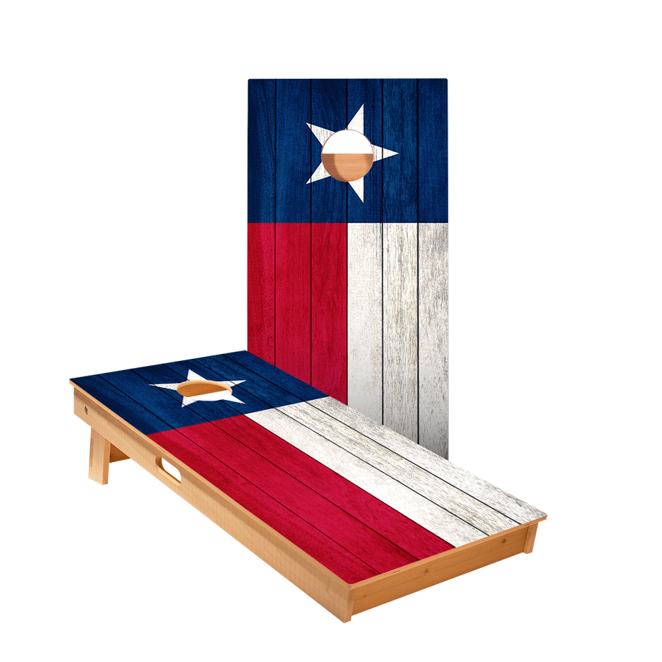 Texas Flag Regulation Cornhole Boards Bag Toss Game Set