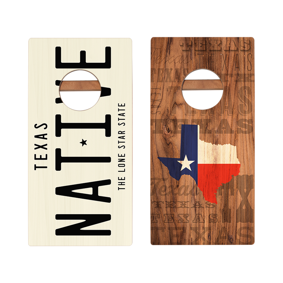 KG Texas Native Recreation Cornhole Boards
