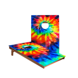 Dale Tie-Dye Color Recreation Cornhole Boards