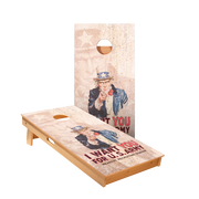 Uncle Sam Board Regulation Cornhole Boards Bag Toss Game Set
