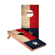 KG Vintage Texas Flag Recreation Cornhole Boards