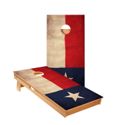 Vintage Texas Flag Longhorn Regulation Cornhole Boards Bag Toss Game Set