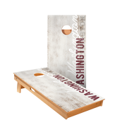 Washington Vintage Gameday Regulation Cornhole Boards Bag Toss Game Set