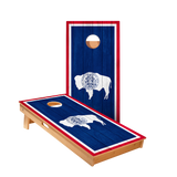 Star Wyoming Flag Professional Cornhole Boards