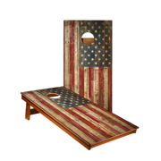 MP2 Rustic American Flag Recreation Cornhole Boards