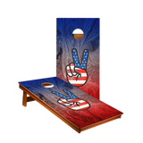 MP2 American Flag Peace Sign Professional Cornhole Boards