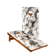 MP2 Black And White Marble Professional Cornhole Boards