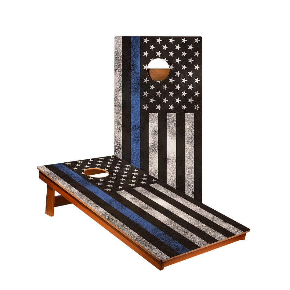 MP2 Thin Blue Line Flag Recreation Cornhole Boards