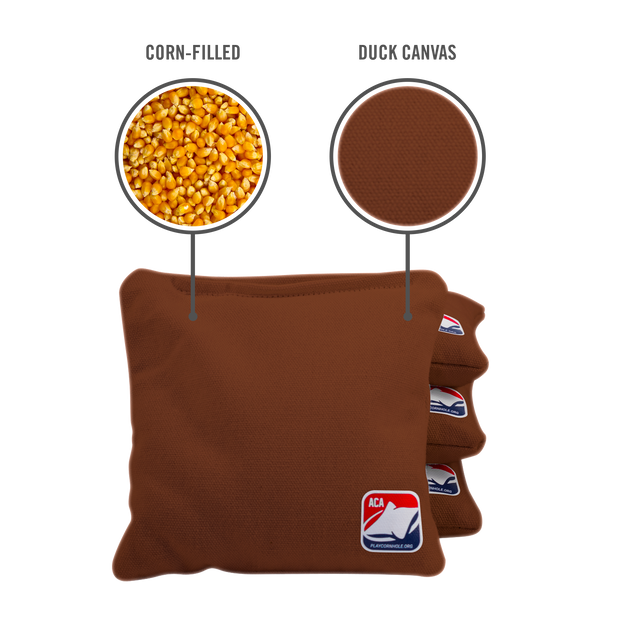 Brown Corn Filled Cornhole Bags