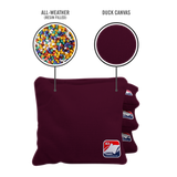 Burgundy All Weather Cornhole Bags
