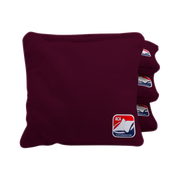 Burgundy Corn Filled Cornhole Bags