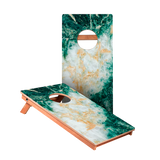 KG Green Marble Junior Cornhole Boards bag toss game set