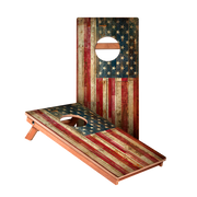 American Flag Junior Cornhole Boards bag toss game set