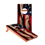 KG American Flag Cloth Recreation Cornhole Boards