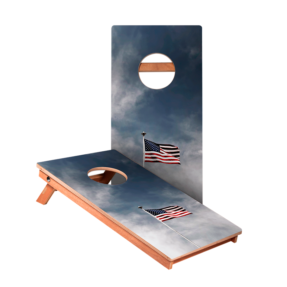 KG American Flag Pole Recreation Cornhole Boards